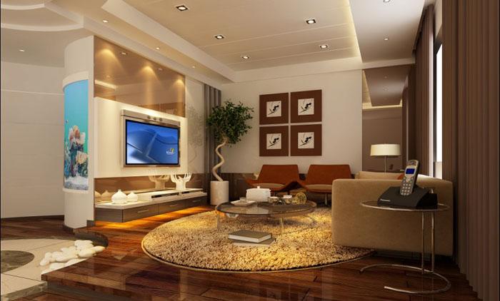 二层别墅客厅效果图