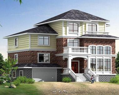 三层美式风格别墅外观效果图