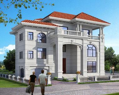 豪华三层160平方米欧式别墅效果图欣赏
