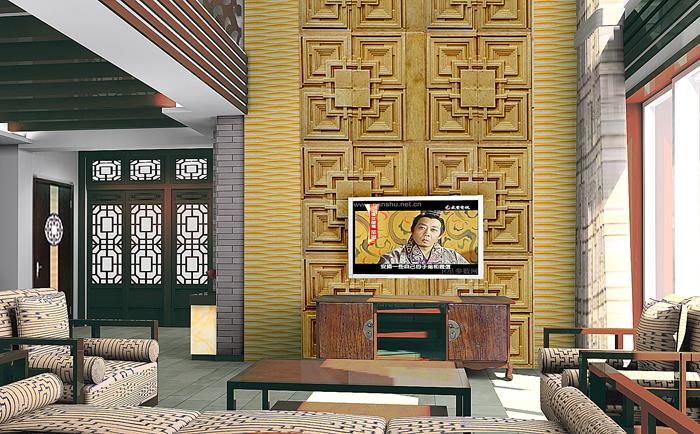 中式客厅装修设计图
