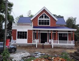郴州某客户二层小别墅施工案例实拍照片