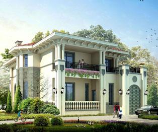 欧式风格经典奢华别墅效果图