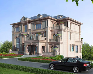 三层带地下室豪华现代别墅
