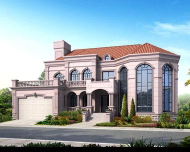二层八角豪华复式别墅带大车库