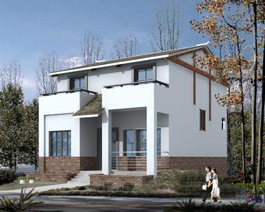 农村自建房二层面积小别墅图