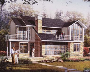 建设新农村二层别墅外观效果图