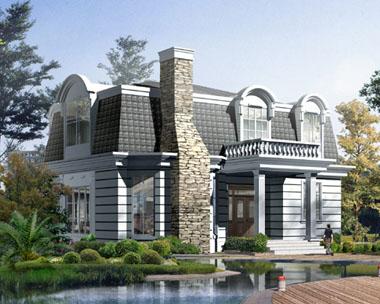 国外独特风情别墅建筑设计外观效果图