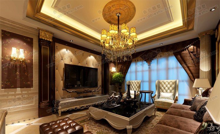 豪华大气室内别墅设计效果图