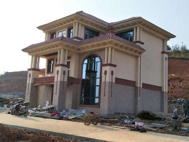 【实建案例】永云别墅AT1668三层豪华复式别墅施工案例欣赏