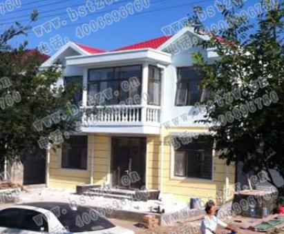 郴州市桂阳县二层实用漂亮小别墅施工案例,人人都说好看