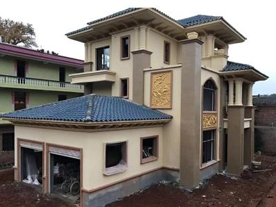 【实建案例】AT1669三层带双车库郴州市桂阳张总私人豪华别墅工程案例