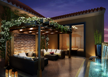 私人豪宅怀化别墅屋顶花园露台阳台装修效果图欣赏