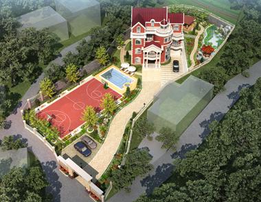 贵州遵义罗先生豪华别墅加庭院景观设计案例