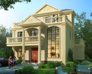 欧式三层别墅设计图,华丽气派,建起来邻居不羡慕都不行。