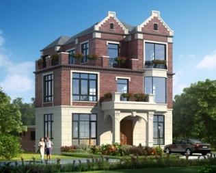 带内庭院三层别墅设计图,自内而外的优雅别墅
