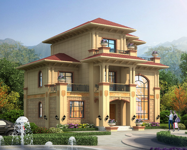 YS016赣州周女士定制三层欧式别墅设计效果图