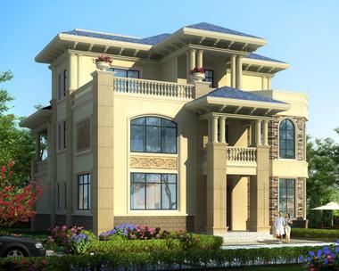 AS086三亚陈先生占地185平米三层复式楼别墅设计图