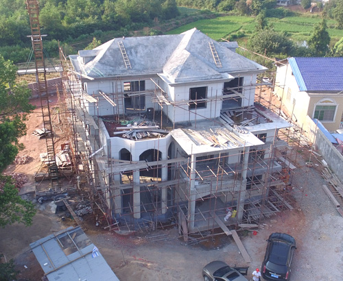 浏阳豪华别墅还没建完就已经这么气质非凡了,再辛苦也值了。