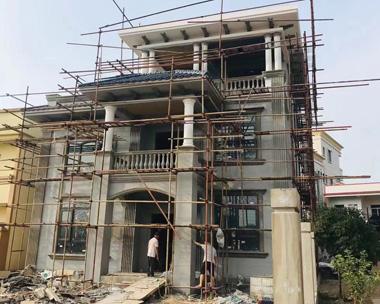 广东梅州谢先生简欧风格三层别墅施工案例图欣赏