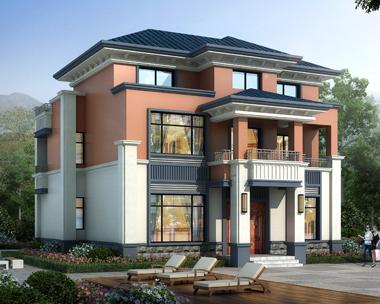 AS108江苏许总定制占地135平米的三层漂亮别墅外观图设计