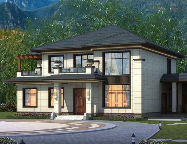 经典大气新中式二层私家别墅案例图欣赏