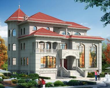 浏阳凌总带地下室占地300平方米三层欧式别墅外观案例图欣赏