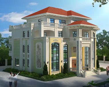 衡南廖总20.6mX16m占地280平方米四层别墅效果图案例欣赏