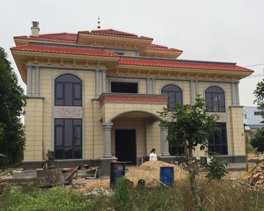 湘潭陈总欧式三层豪华别墅施工案例图欣赏