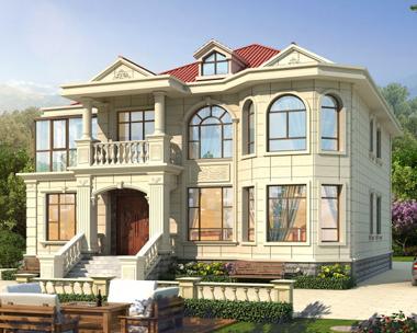 李岚女士二层欧式小户型别墅设计效果图欣赏