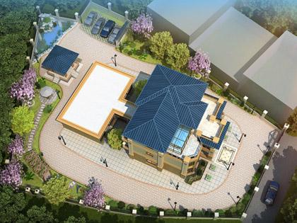 浏阳张女士2000平米别墅庭院景观定制设计案例效果欣赏
