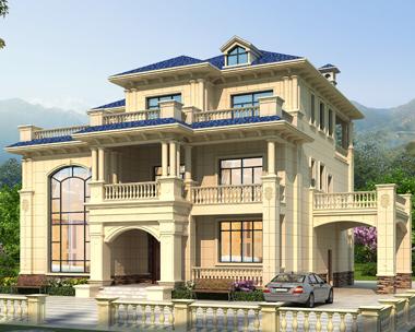江西上饶方先生欧式私人豪华复式别墅设计案例(首层面积246平米)
