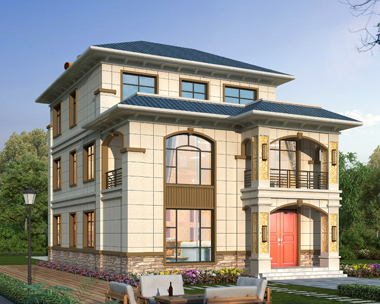 南宁张先生新中式兄弟合建三层别墅设计案例(首层面积173平米)