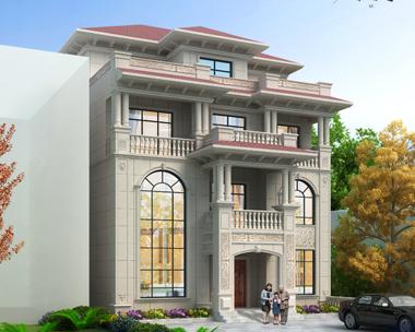 南昌进贤朱总简欧带架空层四层别墅设计案例(首层面积173平米)