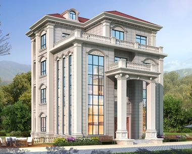 广东茂名市余总豪华欧式四层别墅定制设计案例欣赏(首层面积202平米)