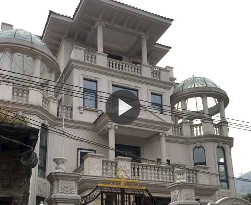 【工程案例】永州肖四层总欧式豪宅主体加装饰案例实拍