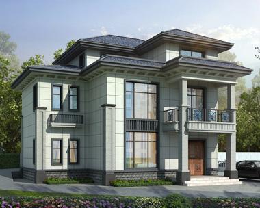 现代新中式风格三层清新典雅小户型别墅设计案例图欣赏