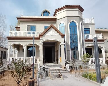 AT1835简欧风格二层带走廊简单时尚建筑施工案例图欣赏