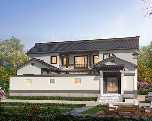 贵州瓮安县朱先生19X12.5米一层中式四合院住宅案例图欣赏