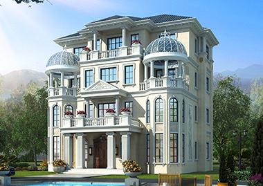 带电梯占地190平米邵阳吴家三兄弟共建豪华欧式别墅定制案例