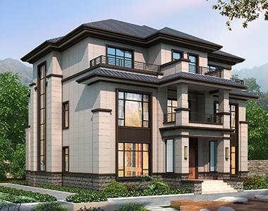 娄底-皱先生地面191平米新中式自建别墅定制设计案例欣赏