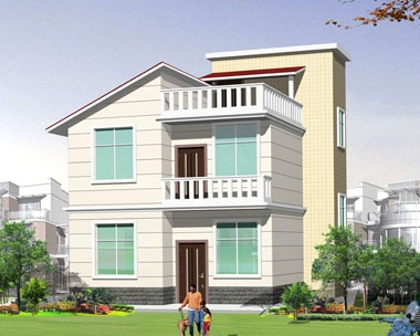 [永云别墅]AT20二层半漂亮小别墅全套设计施工图纸8m×10m