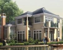 [永云别墅]AT249二层大型现代别墅建筑设计图纸17m×14m