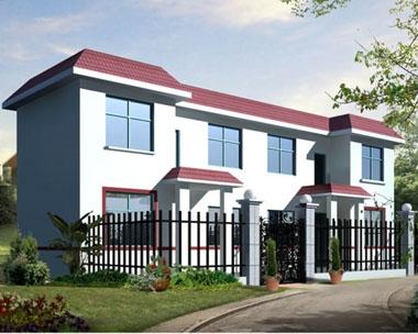 318二层新农村房小别墅设计图纸8.3m×16.6m