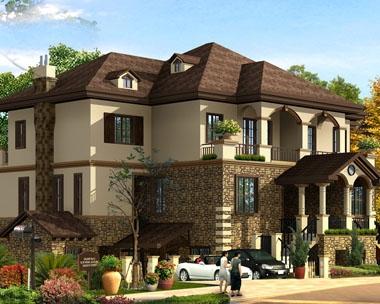 双拼别墅设计图649双户联排豪华别墅全套图纸22m×16m