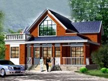 [永云别墅]AT481一层半带阁楼新农村小别墅全套设计图纸13.1mx12.8m
