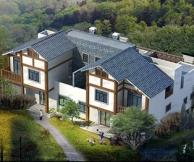 [永云别墅]AT009农村自建房双拼二层别墅图纸全套施工图纸 22.5m×15m