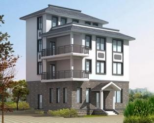 [永云别墅]AT425四层优雅四层别墅建筑结构水电设计图纸9m×9m