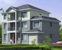 AT913经典实用新农村三层带车库别墅设计施工图纸15m×11m