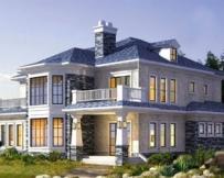 AT299欧式风格二层别墅建筑结构及水电施工图纸 12mx11m