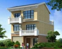 AT912新农村住宅三层房屋建筑设计图纸8.5m×10m
